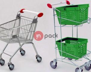 Pirkinių krepšiai, vežimėliai